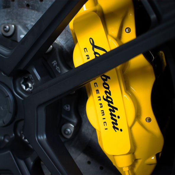 lamborghini yellow brake caliper colour